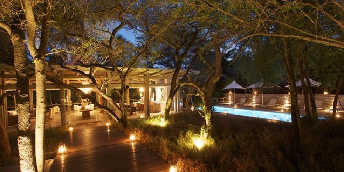 Communal area and pool Kapama Karula in South Africa