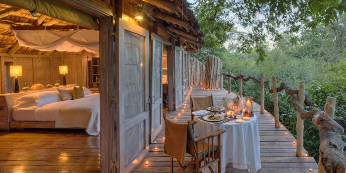 Luxury suite at &Beyond Lake Manyara Tree Lodge in Tanzania