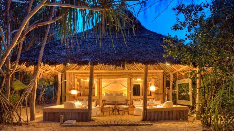 The accommodation at &Beyond Mnemba Island, Zanzibar