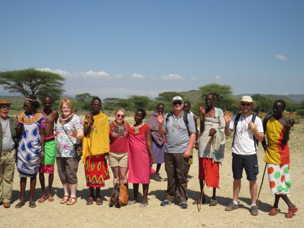 Visiting a village in Samburu